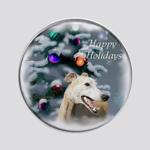 Greyhound Christmas Ornament (Round)